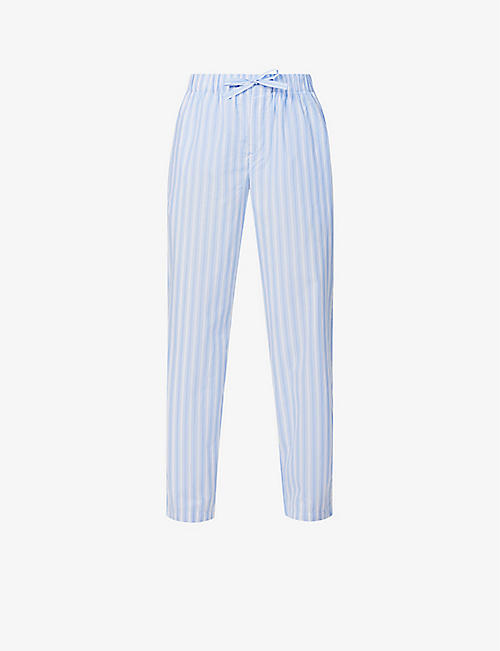 TEKLA: High-rise organic-cotton pyjama bottoms