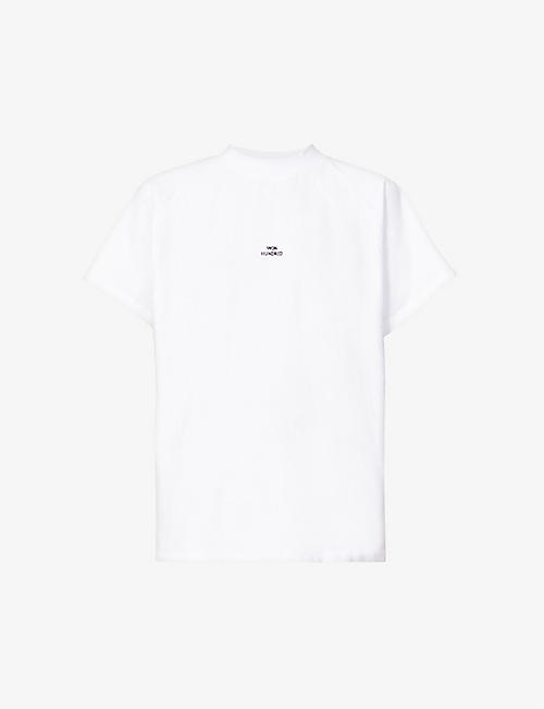 WON HUNDRED: Brooklyn logo-embroidered organic cotton-jersey