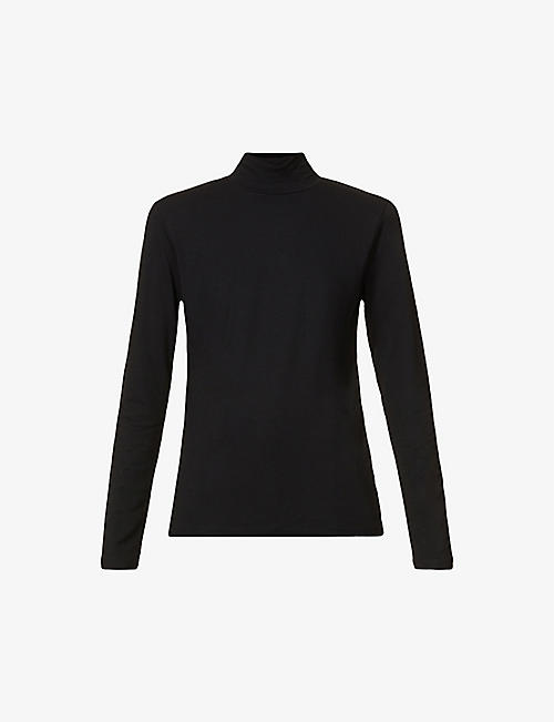 WON HUNDRED: Roxy turtleneck stretch-woven top