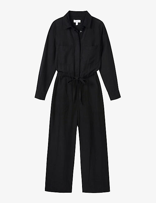 THE WHITE COMPANY: Long-sleeved stretch-woven jumpsuit