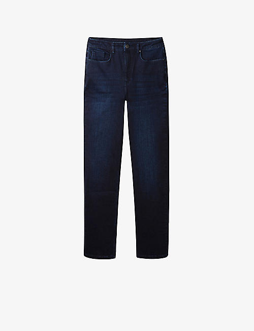 THE WHITE COMPANY: 155 straight-leg high-rise stretch-denim jeans