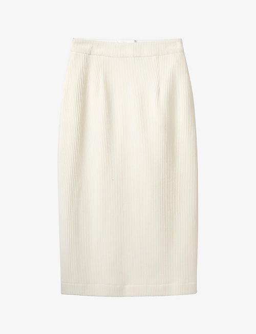 THE WHITE COMPANY: High-waisted corduroy midi skirt