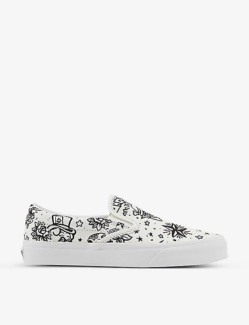 VANS: Classic U-Colour canvas slip-on trainers