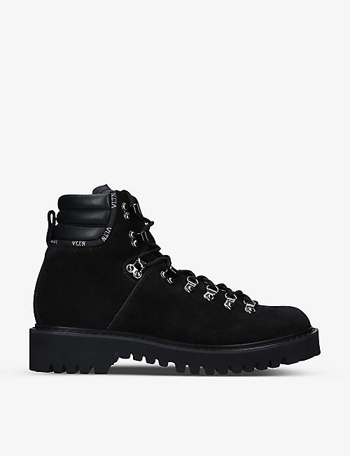 VALENTINO GARAVANI: VLTN leather hiking boots
