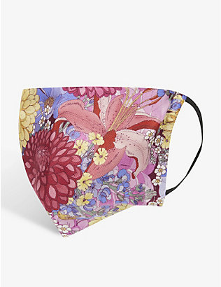 EMILY CARTER: Floral-print silk face covering