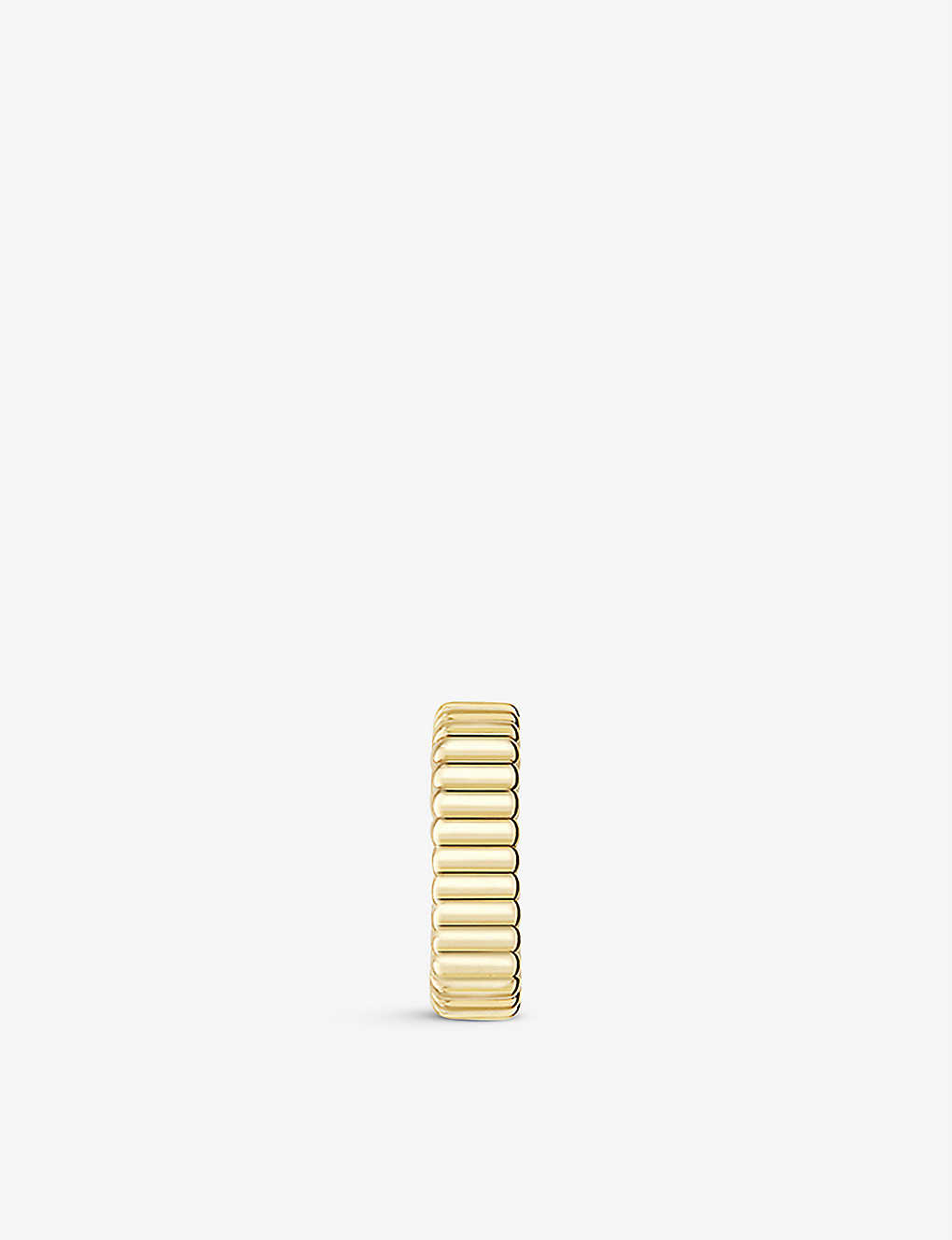 BOUCHERON: Quatre Grosgrain 18ct yellow-gold clip-on earring