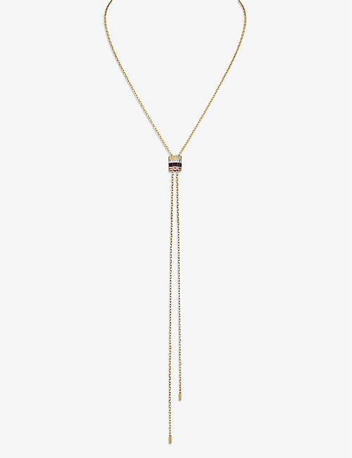 BOUCHERON: Quatre Classique 18ct yellow, white and rose gold and diamond necklace