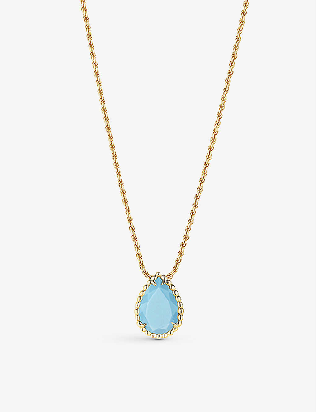 BOUCHERON: Serpent Bohème 18ct yellow-gold, turquoise and diamond necklace