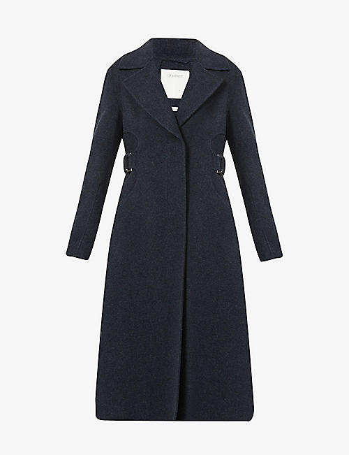 SPORTMAX: Terry belted wool and cashmere-blend coat