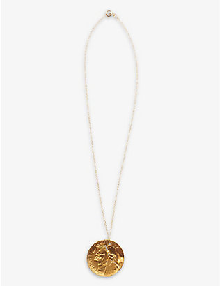 ALIGHIERI: The Fractured Poet 24ct gold-plated bronze necklace