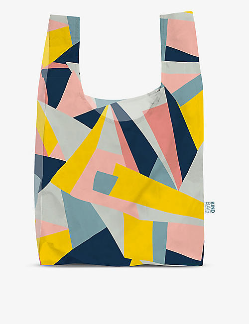 KIND BAG: Geometric-print reusable woven bag