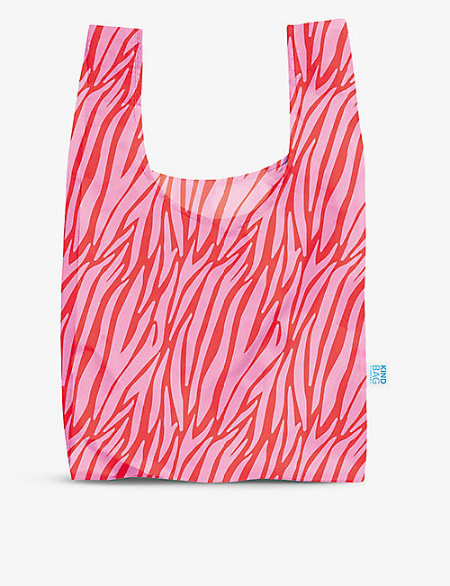 KIND BAG: Zebra-print reusable woven bag