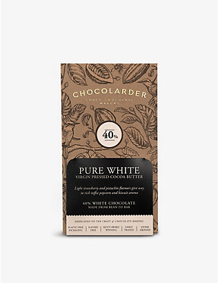 CHOCOLARDER: 40% pure white chocolate bar 70g
