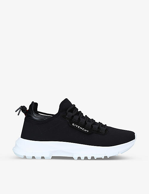 GIVENCHY: Spectre panelled woven and leather low-top trainers