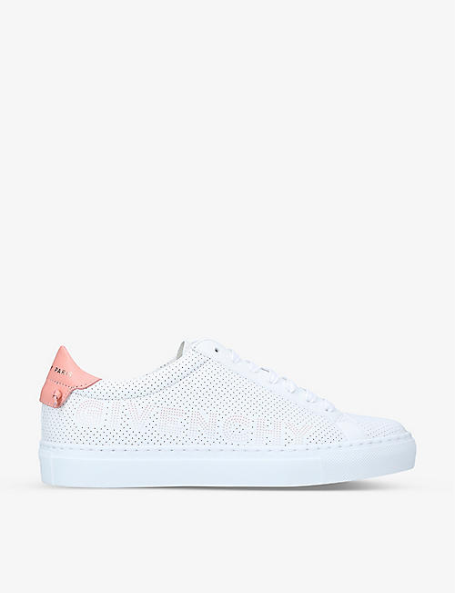 GIVENCHY: Urban Street perforated leather trainers