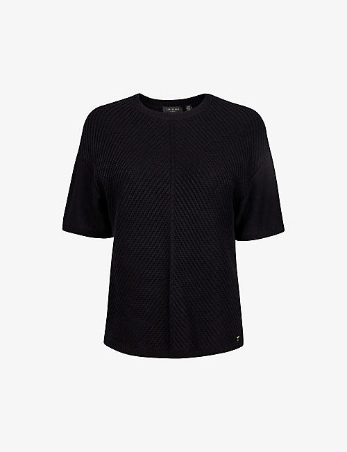 TED BAKER: Textured cotton-blend jumper