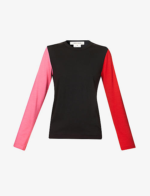 COMME DES GARCONS: Colour-block wool jumper