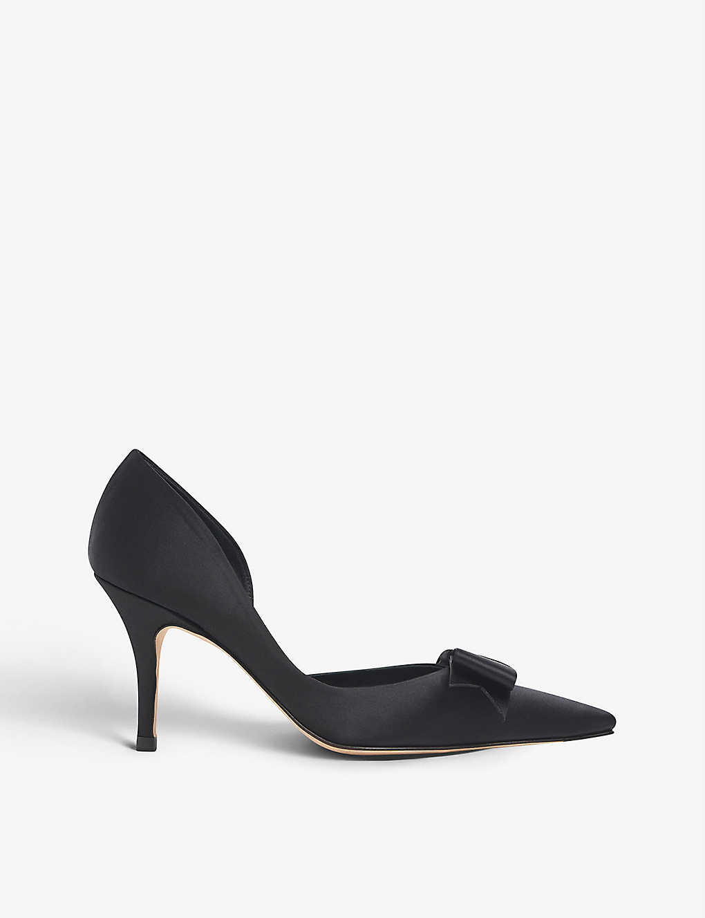 LK BENNETT: Henrietta pointed-toe satin courts