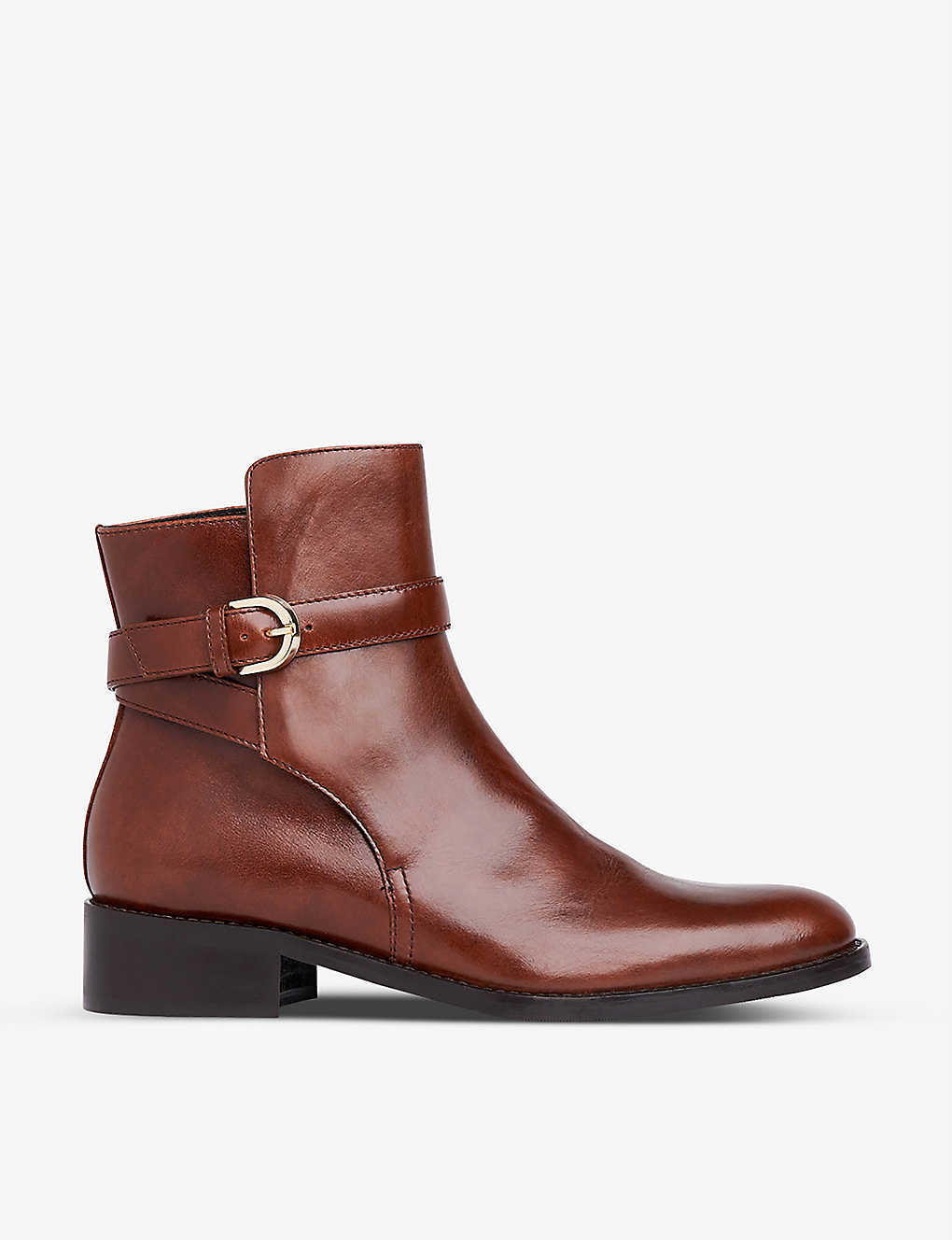 LK BENNETT: Annie buckle-strap leather ankle boots