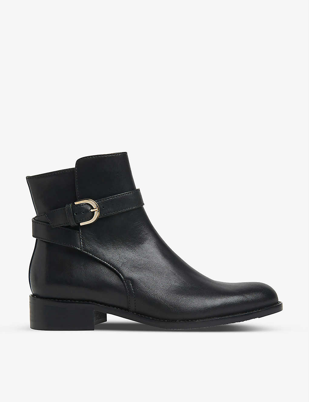 LK BENNETT: Annie buckle-detail leather ankle boots