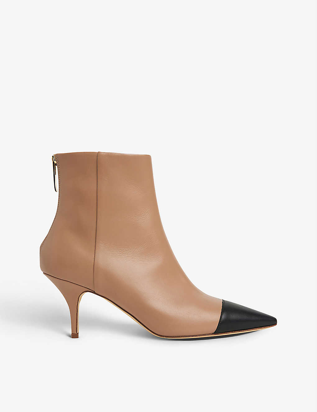 LK BENNETT: Athena contrast-toecap leather ankle boots
