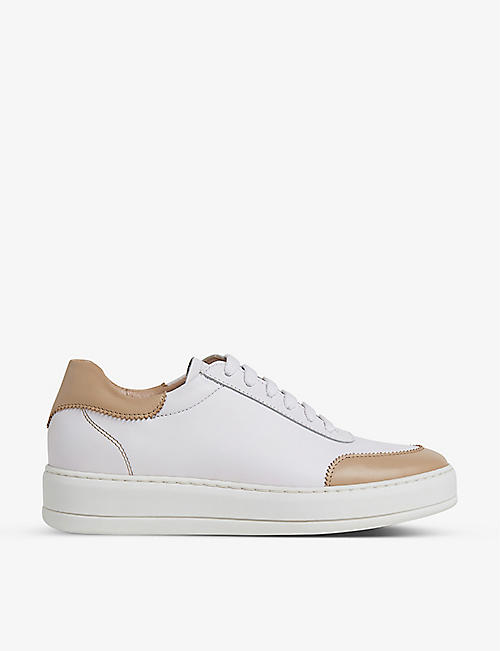 LK BENNETT: Teddy leather trainers
