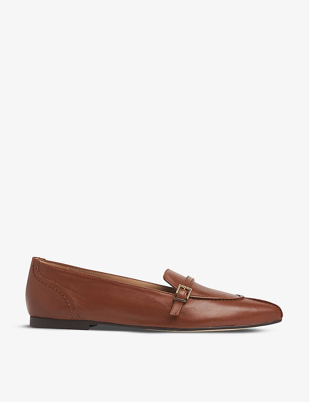 LK BENNETT: Polliana buckle-detail nappa leather loafers