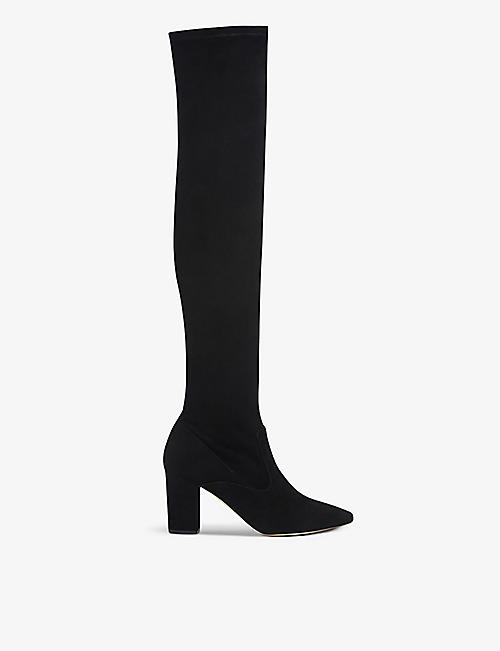 LK BENNETT: Zira over-the-knee stretch-suede boots