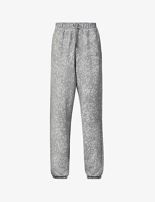 DAILY PAPER: Acid wash cotton-jersey jogging bottoms
