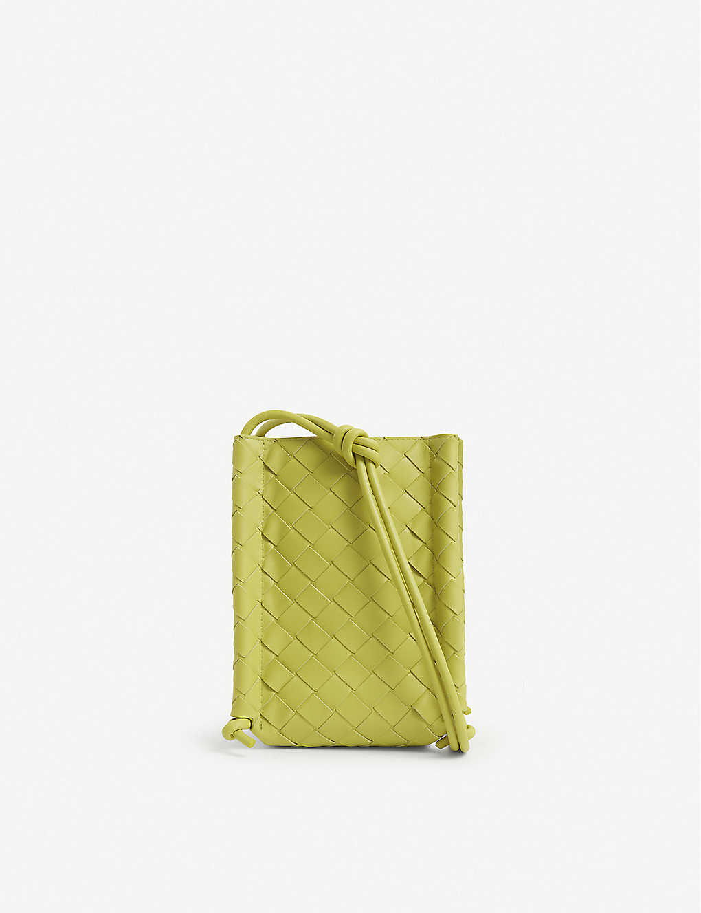 BOTTEGA VENETA: Intrecciato-woven leather iPhone holder