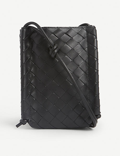 BOTTEGA VENETA: Intrecciato leather phone holder