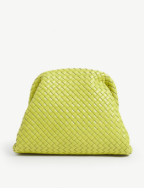 BOTTEGA VENETA: The Pouch Intercciato leather clutch