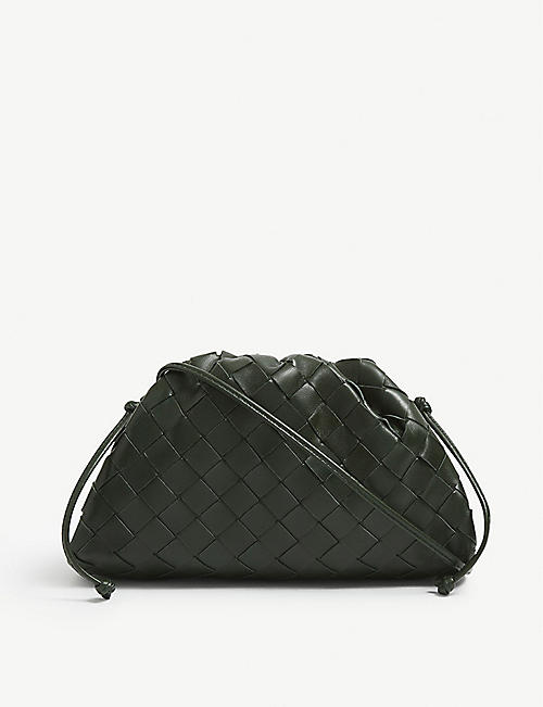 BOTTEGA VENETA: The Pouch small intrecciato leather clutch