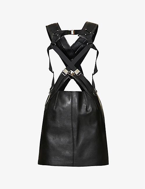 JUNYA WATANABE: Harness-style faux-leather mini dress