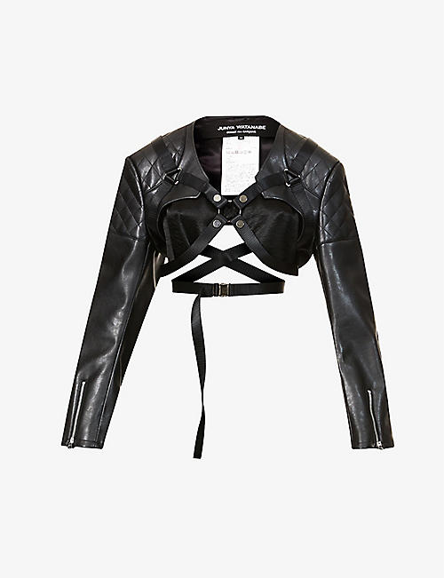 JUNYA WATANABE: Harness quilted faux-leather jacket