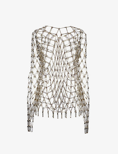 NOIR KEI NINOMIYA: Safety Pin sleeveless metal top