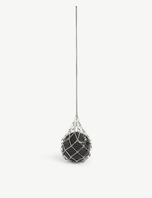 NOIR KEI NINOMIYA: Satety Pin spherical metal and leather bag