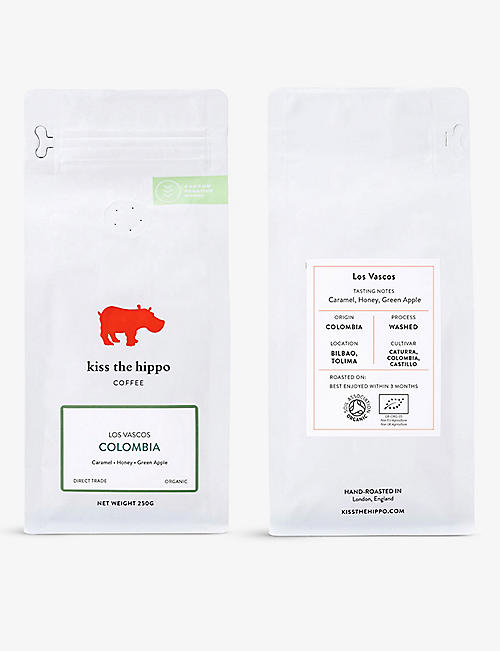 COFFEE: Kiss the Hippo Colombia Los Vascos ground coffee 250g