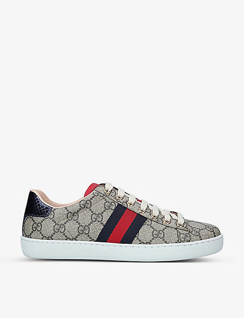 GUCCI: New Ace GG Supreme canvas trainers