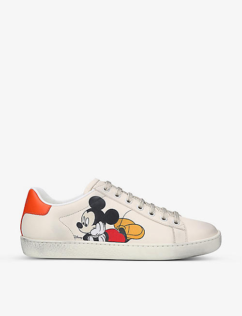 GUCCI: Gucci x Disney Mickey Mouse New Ace leather trainers
