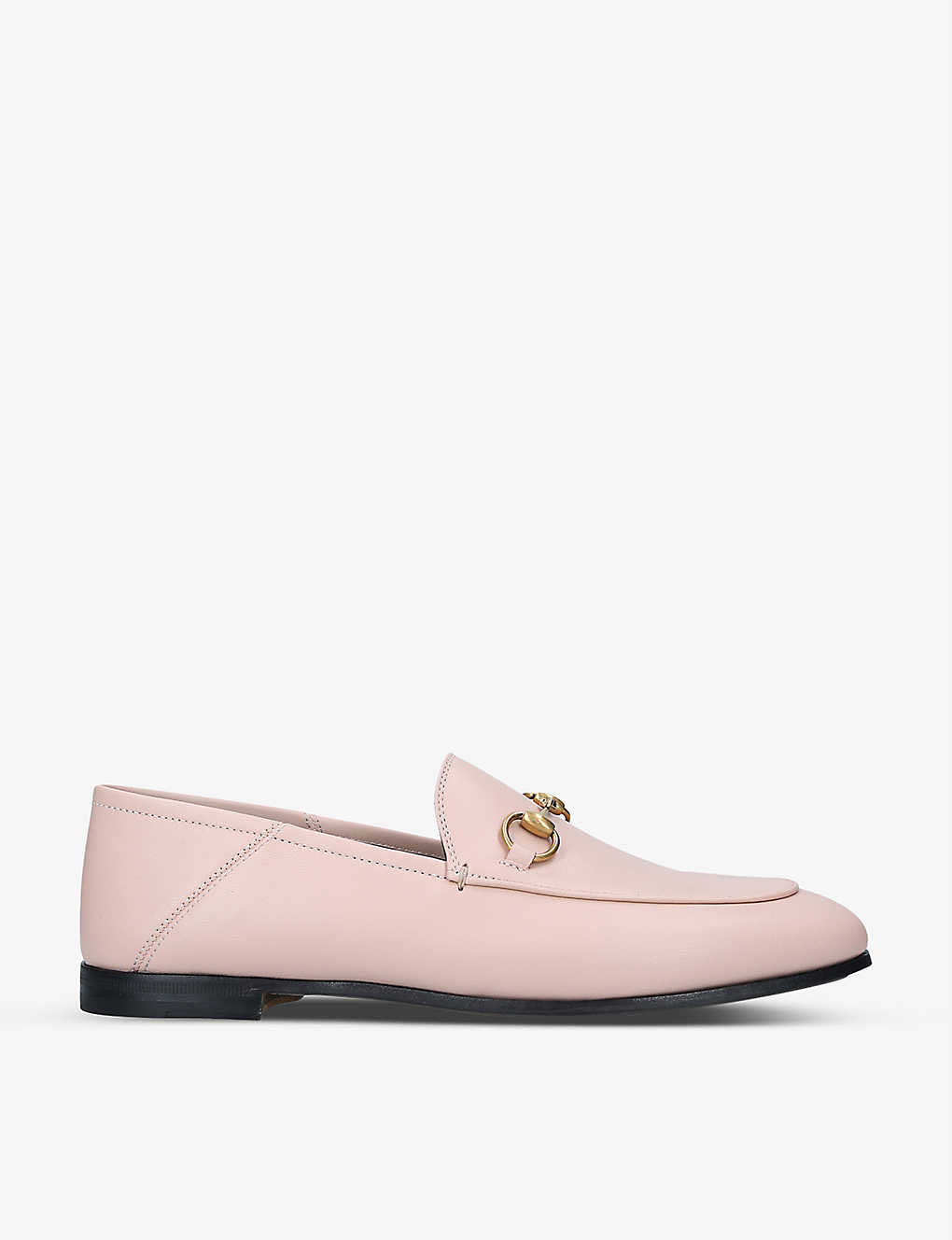GUCCI: Brixton leather collapsible loafers