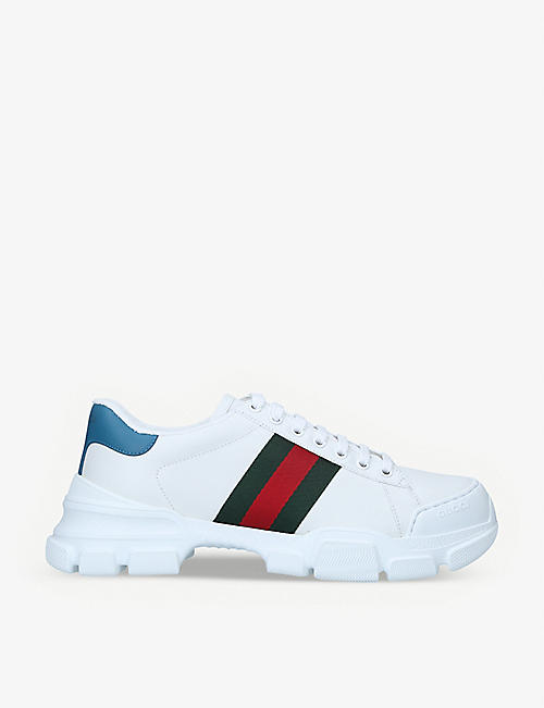 GUCCI: Nathane leather trainers