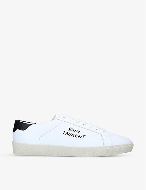 SAINT LAURENT: Court Classic SL06 leather trainers