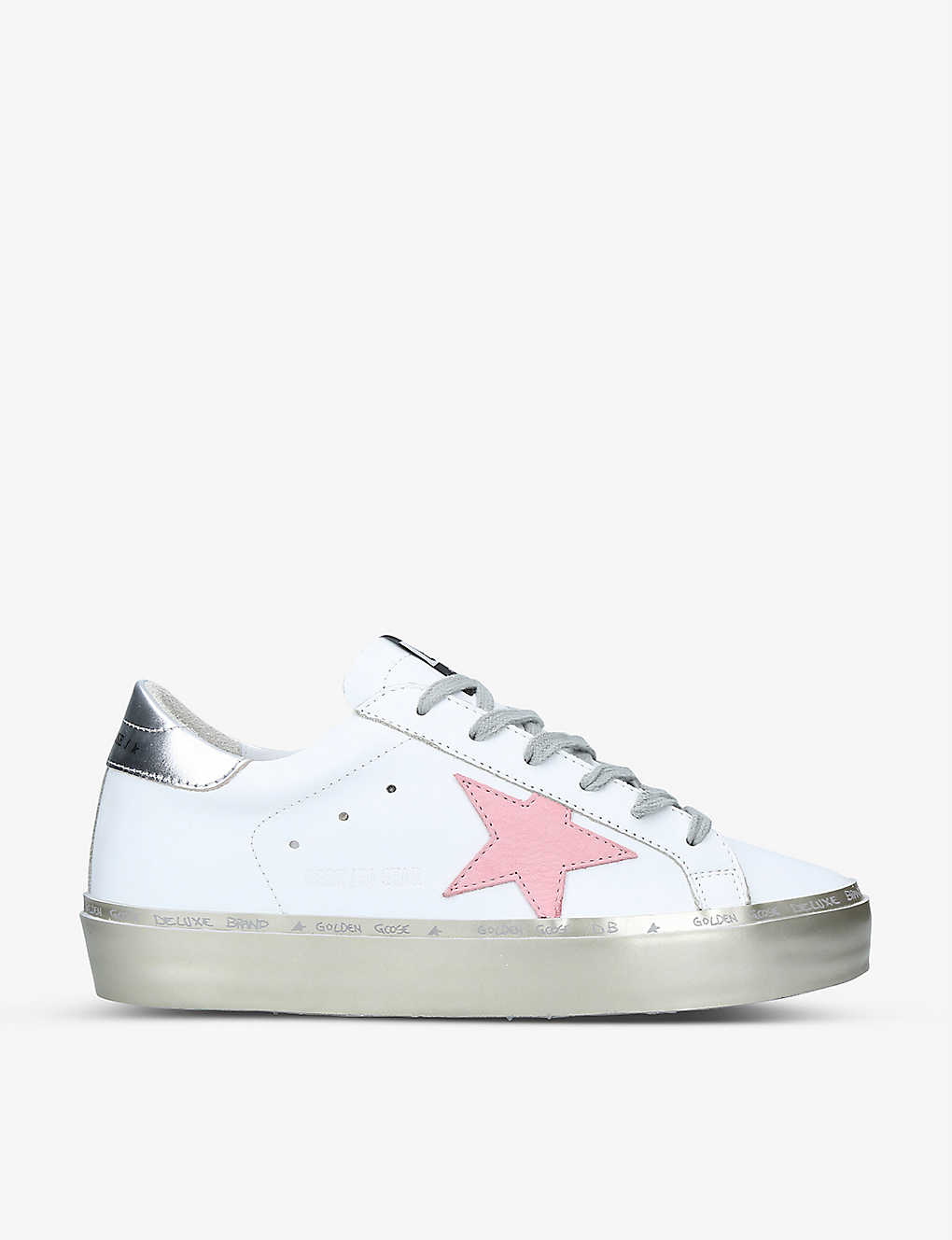 Golden Goose HI STAR EMBROIDERED LEATHER TRAINERS