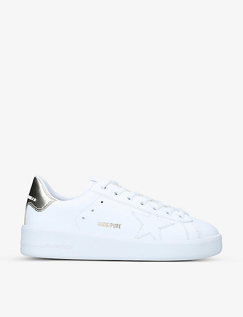 GOLDEN GOOSE: Pure Star leather trainers