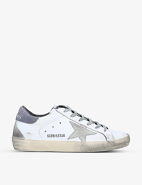 GOLDEN GOOSE: Superstar distressed leather trainers