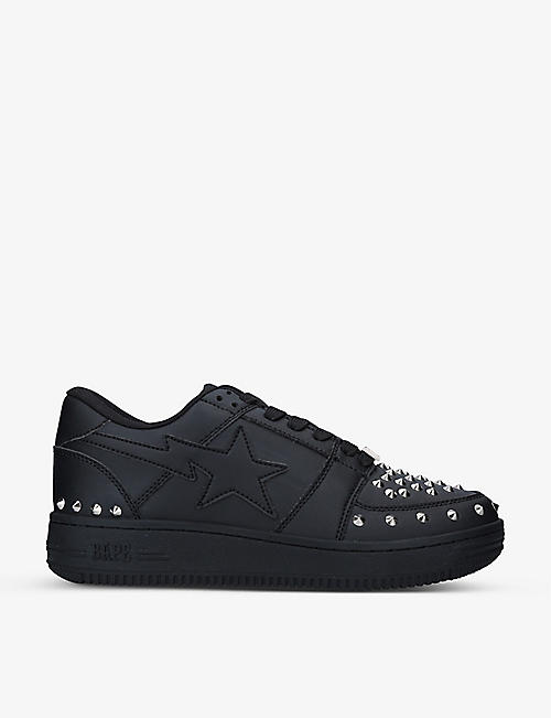 A BATHING APE: BAPE STA studded low-top leather trainers