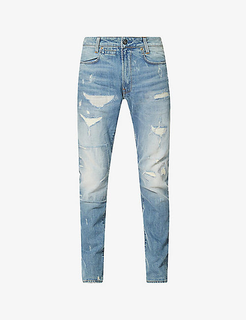 G-STAR: Distressed organic cotton stretch-denim