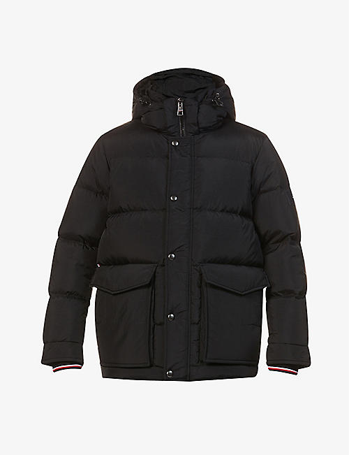 TOMMY HILFIGER: Tommy hooded shell-down jacket
