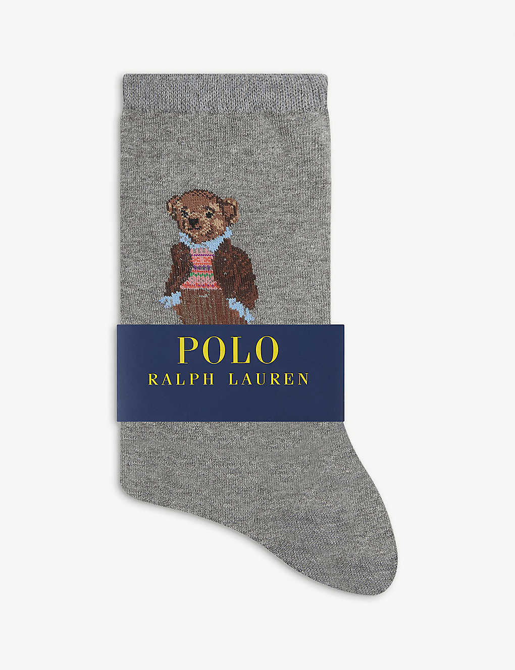POLO RALPH LAUREN: Fairisle Bear cotton-blend socks